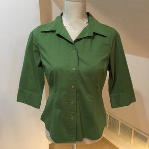 St John's Bay Green Button-up Blouse